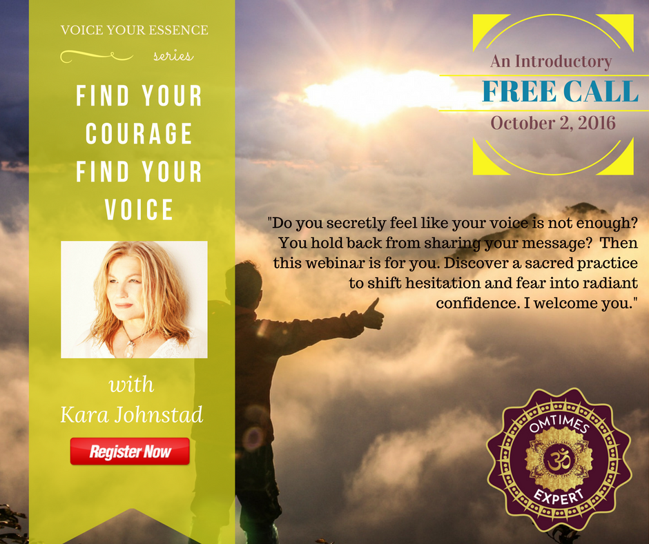 FREE WEBINAR – Find Your Courage Find Your Voice