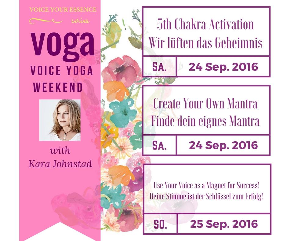 VOGA – Voice Yoga Workshop – September 24 – 25