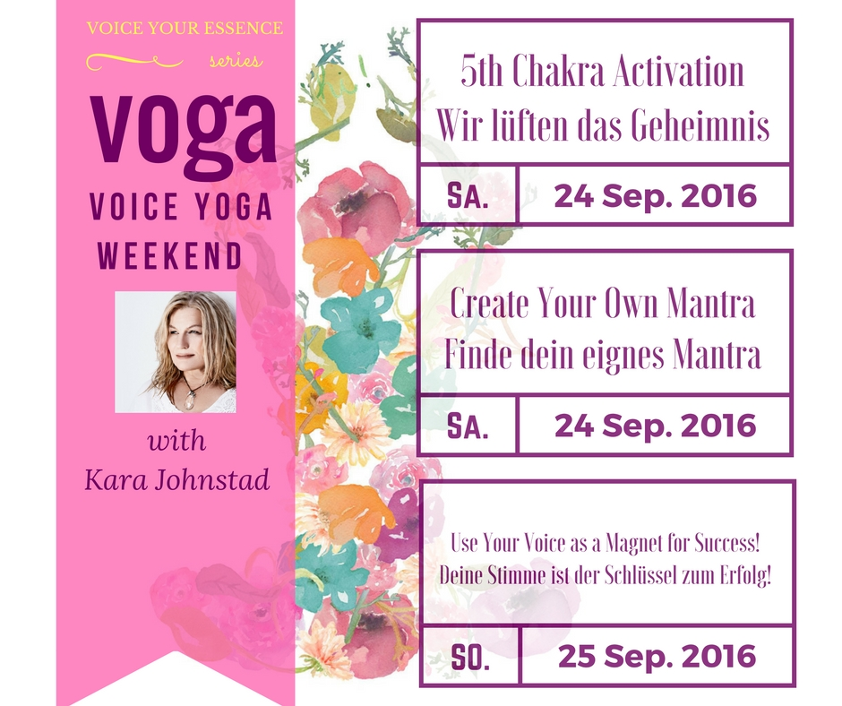 VOGA - Voice & Yoga Workshop with Kara Johnstad at Yoga Vidya Berlin