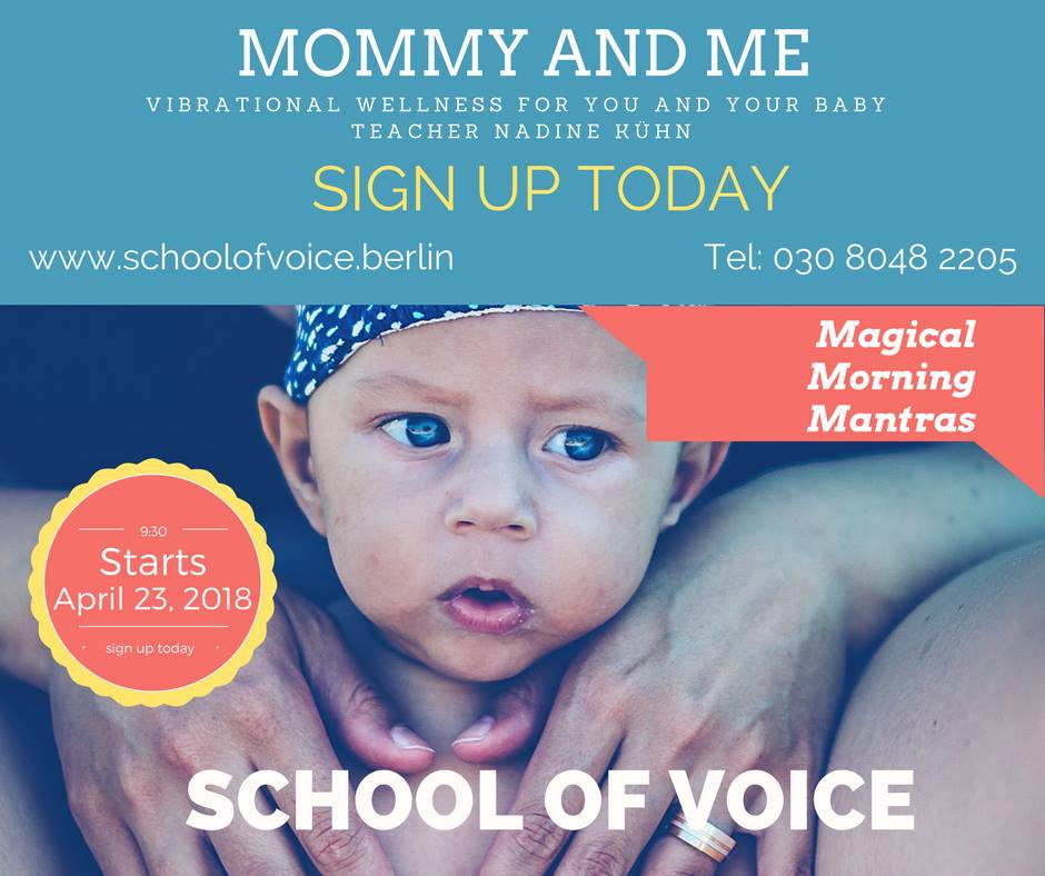 Course: MOMMY AND ME with Nadine Kühn | School Of Voice in Berlin