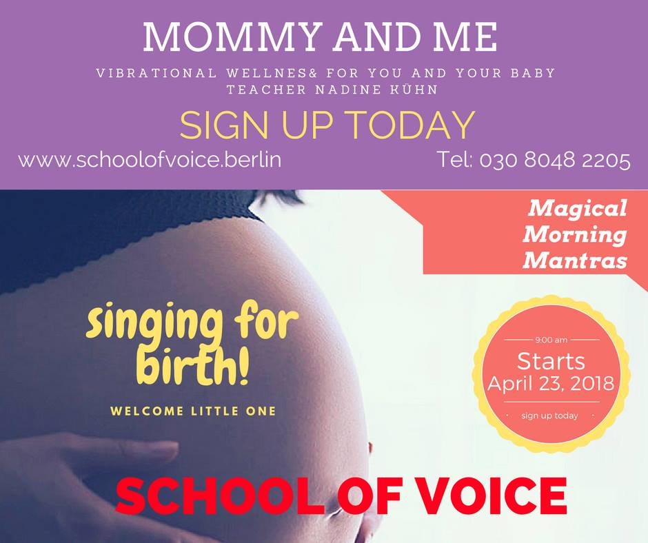 Course: PRENATAL - Mommy & Me with Nadine Kühn | School Of Voice in Berlin